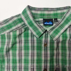 Kavu Men's Short Sleeve Button Down Size Large